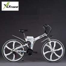 Original X-Front brand 48V 350W Lithium Battery Electric folding Mountain Bike SHIMAN0 Electric Bicycle downhill Cycling ebike