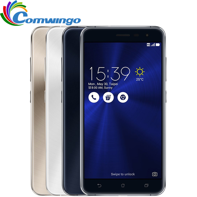 "Original ASUS Zenfone 3 ZE552KL 4GB RAM 64G ROM 16.0MP Camera Android 6.0 Fingerprint Smart Phone Octa core 5.5"" inch Phone"