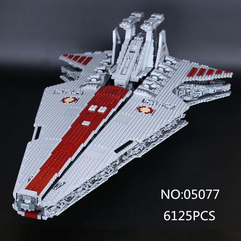 05077 Star Series War Genuine The UCS Rupblic Star Set Destroyer Cruiser ST04 Set Building Blocks Bricks Boy Toys lepin 05077 stars series war the ucs rupblic set star destroyer model cruiser st04 diy building kits blocks bricks children toys