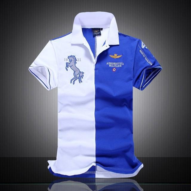 2016 Del Verano hombres de la Marca POLO de Alta Calidad 100% Algodón AERONAUTICA Militare Camisas camisas Para Hombre de la Fuerza Aérea Uno de Los Hombres Tops
