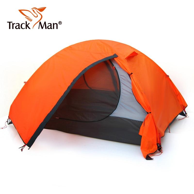 Trackman Étanche Double Couche 2 3 personne Camping En Plein Air Tente Randonnée Tente De Plage Touristique chambre voyage Tentes-TM1209