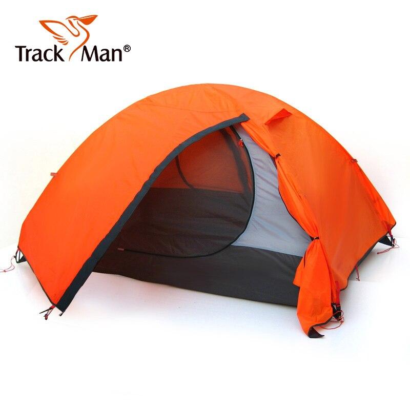 Trackman imperméable Double couche 2 3 personnes en plein air Camping tente randonnée plage tente touristique chambre voyage tentes-TM1209