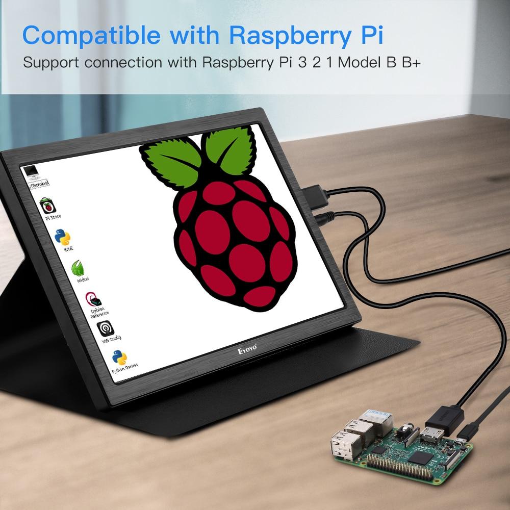 Moniteur de jeu HDMI Portable 10 pouces IPS écran LED lcd 2 k pour PC Portable Compatible parabla PS4 Xbox one PS4 Raspberry Pi USB - 5