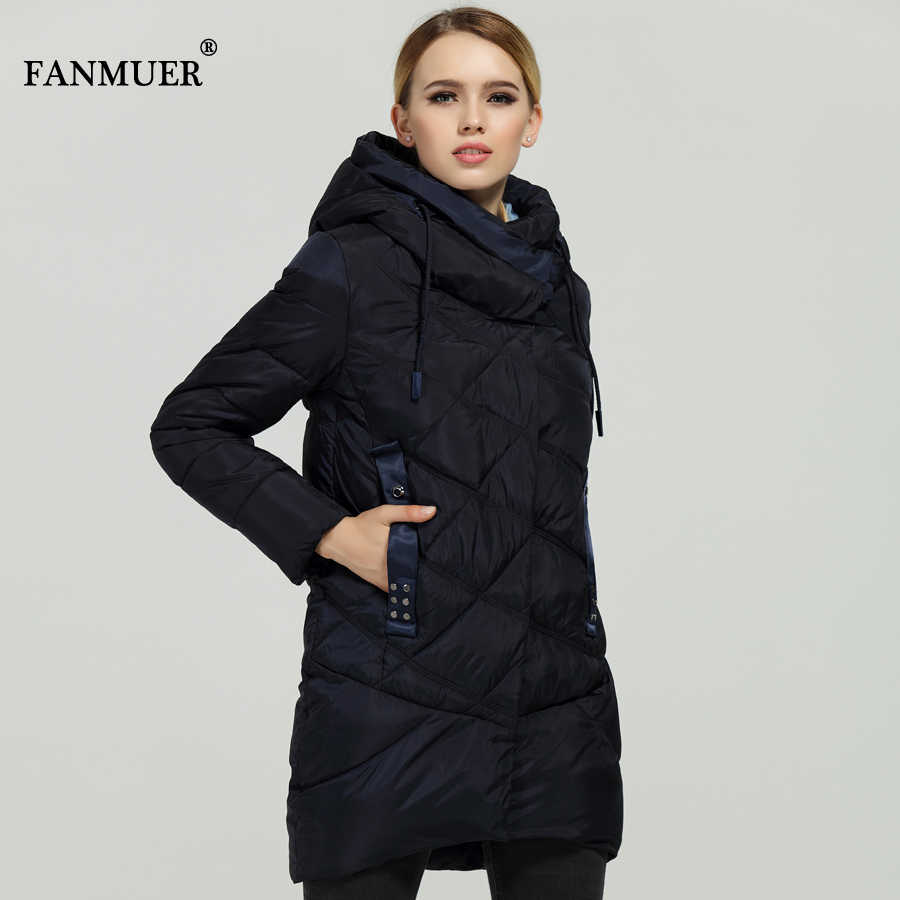 Fanmuer New 2017 Hot Sale Winter Womens Bio Down Thickening Jacket And Coat For Women High Quality Parka