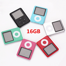 16GB Mini MP3 MP4 Music Player 1.8 inch LCD Screen FM Radio Video Player Hot Selling Black Blue Silver Blue Pink Green