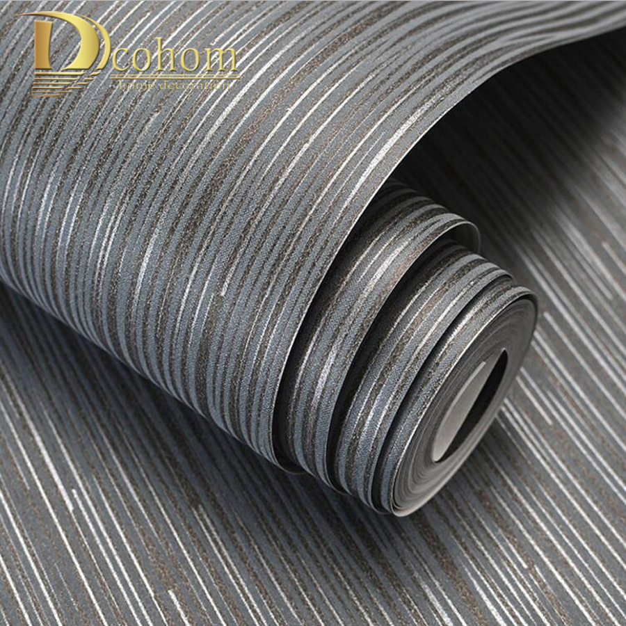 Fashion Simple Solid Color Striped Wallpaper For Walls 3D Home Wall Paper Rolls For Bedroom Living Room Sofa TV Background Decor fashion letters and zebra pattern removeable wall stickers for bedroom decor