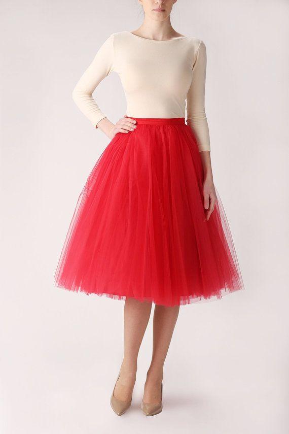 Colorful Fashion Tea Length TuTu Skirt Adults Teens Women 5 Layers Tulle Tutu Skirts Princess Petticoat In Petticoats From Weddings Events On