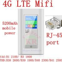 Sbloccato 4g 5200 mAh Banca di Potere router 150 mbps Router Wifi della tasca Wireless hotsport Dongle wifi Mifi con Porta RJ45 pk e5776 e589