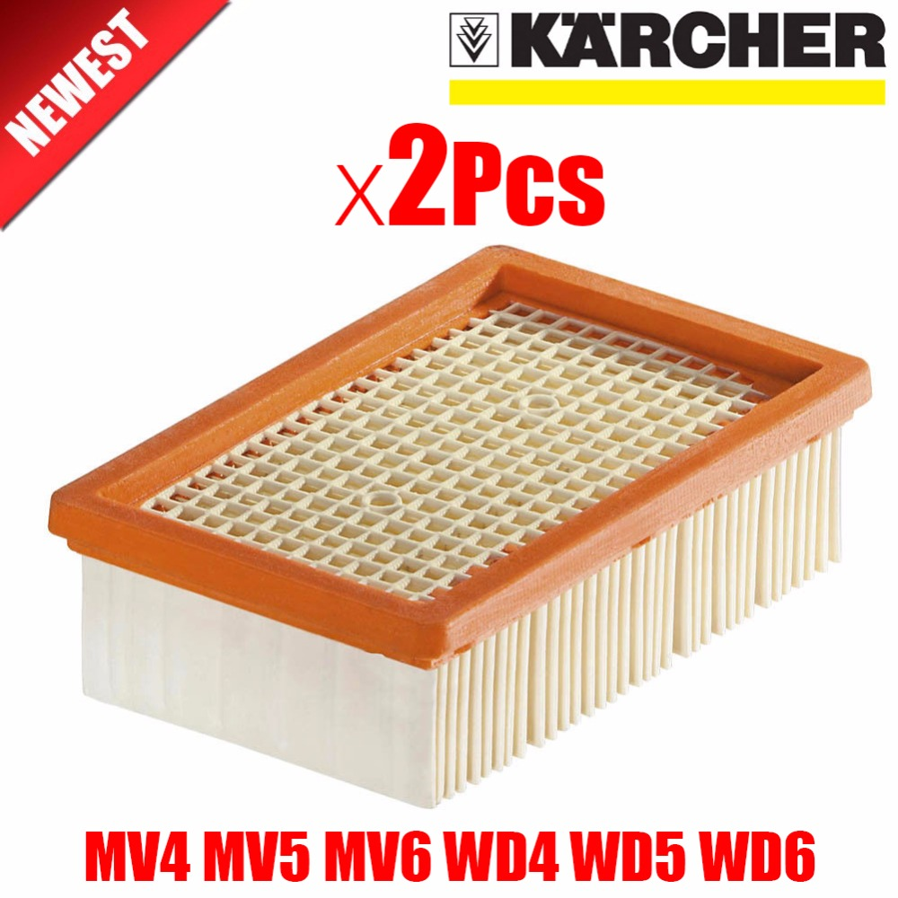 2Pcs/lot KARCHER Filter for KARCHER MV4 MV5 MV6 WD4 WD5 WD6 wet&dry Vacuum Cleaner replacement Parts#2.863-005.0 hepa filters
