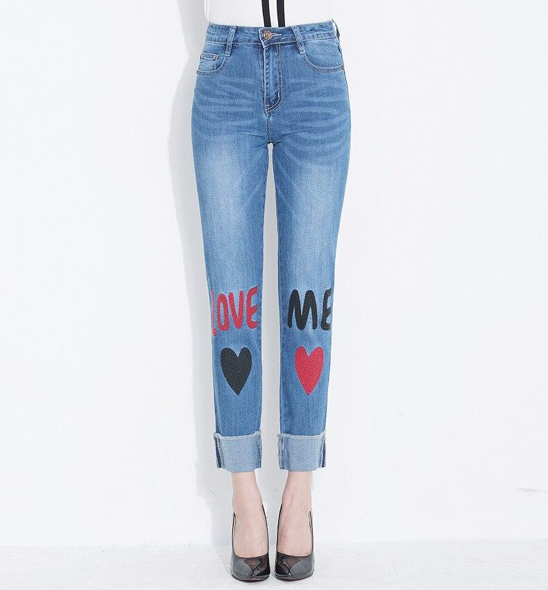 KSTUN jeans woman high waist straight slim elasticity mom denim pants ladies plus size push up femme mujer trousers kot pantolon 17