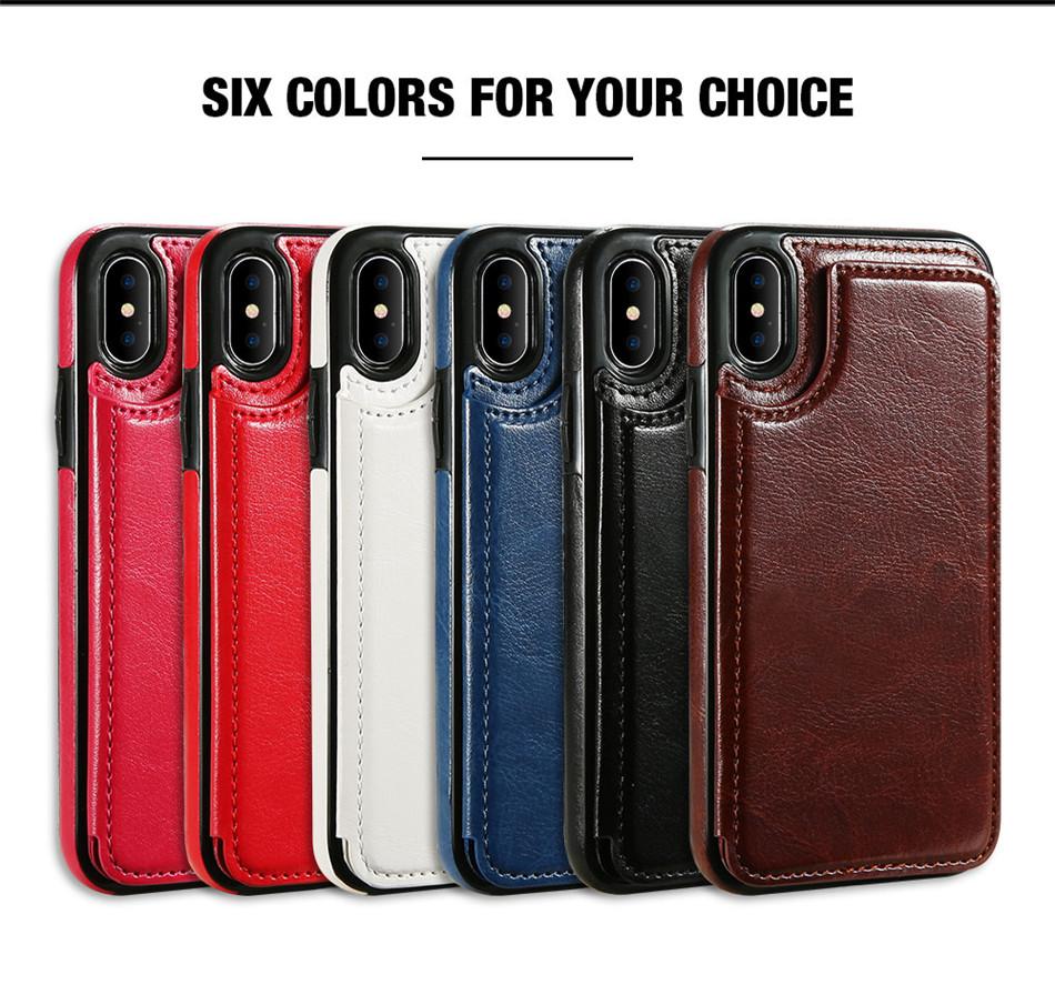HTB1HHYMkbYI8KJjy0Faq6zAiVXa8 - KISSCASE Retro PU Leather Case For iPhone 8 7 X 6 6s Plus XS Max XR Card Slot Holder Cover For Samsung S8 S9 Plus Note 8 9 Funda