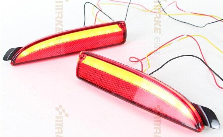 eOsuns LED warning light + brake light + turn signal, rear bumper light, reflector for mazda 6 atenza 2013 16, wireless switch