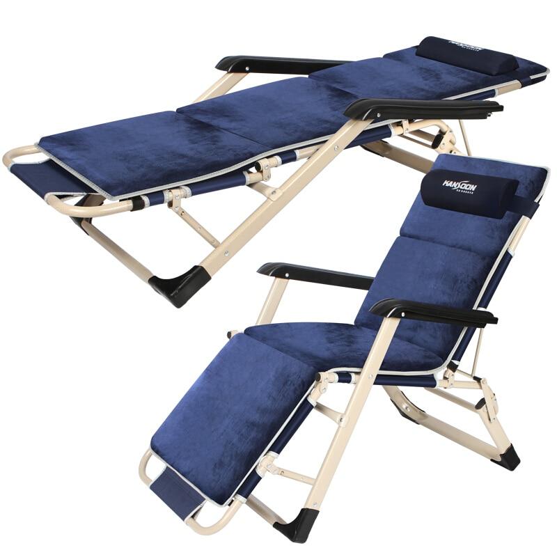 Une chaise longue pliable de bureau de chaises de plage extérieures se pliantes rapides avec le dossier réglable d'accoudoir et le repose-pieds pour le double usage comme lit