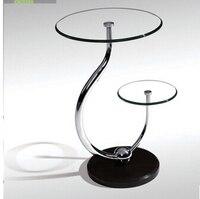 Toughened Glass Small Tea Table Phone Sofa The Round Table
