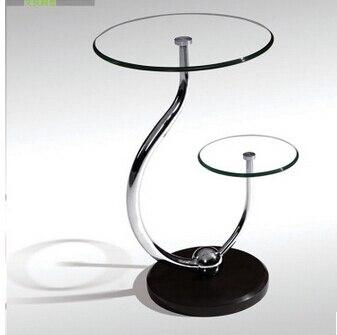 Toughened Gl Small Tea Table Phone Sofa The Round