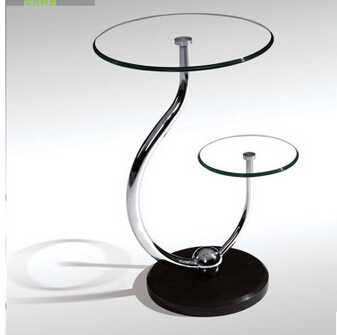 toughened glass small tea table phone