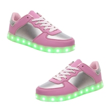 1 pair LED Light-Up Sport Shoes Sneakers USB Charging for Valentine's Day Christmas Halloween, Women's  UK Size