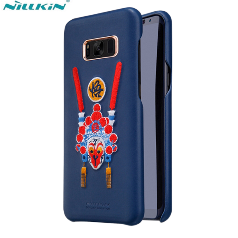 For Samsung Galaxy S8Plus Case Original Nillkin Red Chinese Style Embroidered Picture Phone Shell for Samsung Galaxy S8 Cover