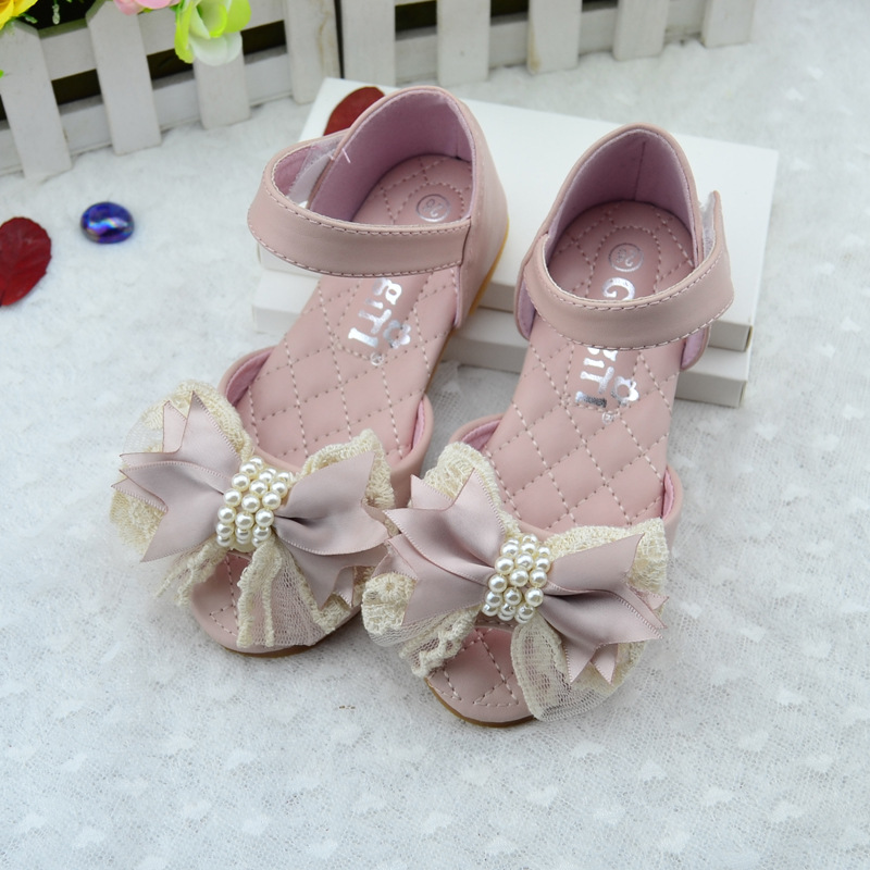 Children Girls Shoes Kids Sandals Princess Party Dress Shoes Big Bow Baby Girls Summer Sandals Infant Flat Shoes TX338