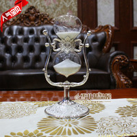 European vase for wedding decoration creative metal ornaments glass rotary hourglass child bestie gift gifts 30 minutes timer