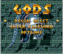 Gods 16 bit MD Game Card For Sega Mega Drive For Genesis