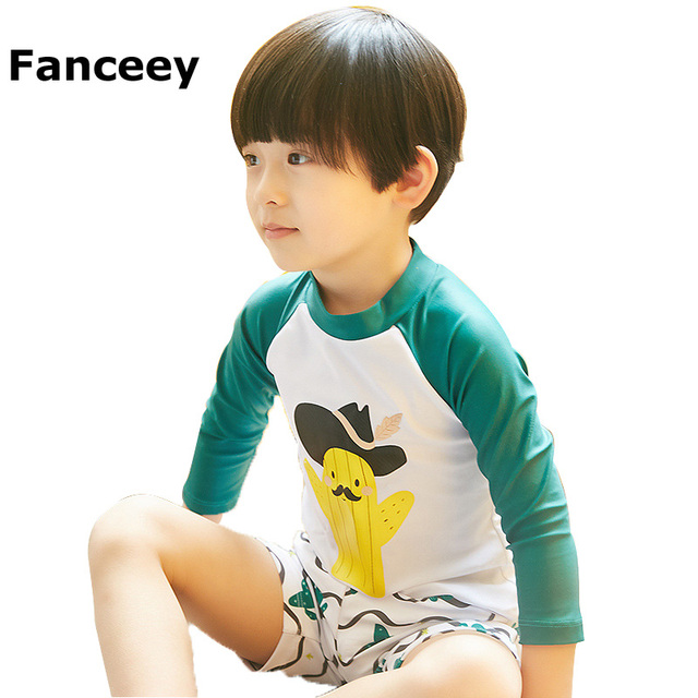 bd2e22d58b4 Special Price Children's Swimsuit Boys Split Swimwear, Kids Baby Fast Dry  Surfing Swimming Clothes Warm