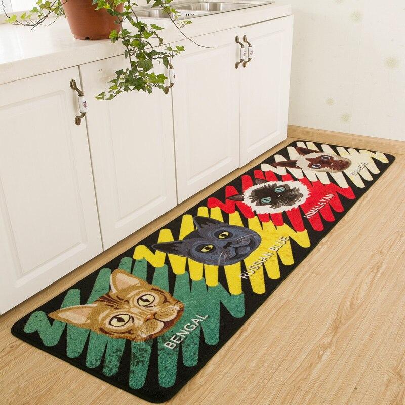 Cute Comet Man Mats Personality Cartoon Pattern Pads Creative Kitchen Carpet Door Dust Doormat Household Carpets Bath Rug