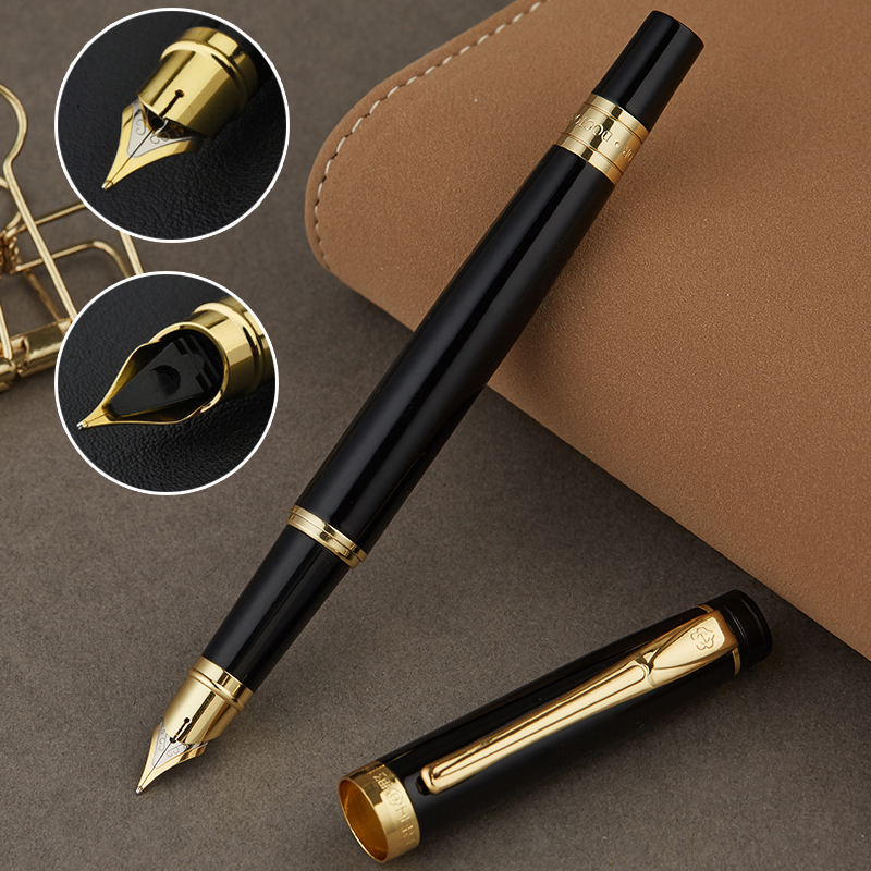 Full Metal Iraurita Fountain pen 0.5mm ink pens Calligraphy Practice Writing Business Pens Office School Supplies 1046Full Metal Iraurita Fountain pen 0.5mm ink pens Calligraphy Practice Writing Business Pens Office School Supplies 1046