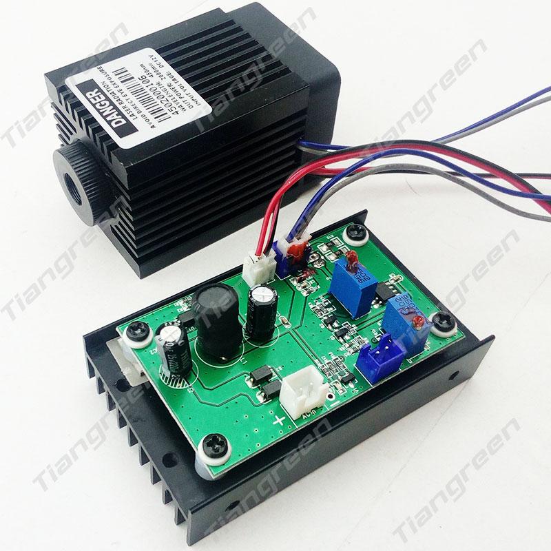 Focusable High Power 2W 445nm Blue Laser Module TTL 12V 450nm 2000mW Engraver machine цена и фото