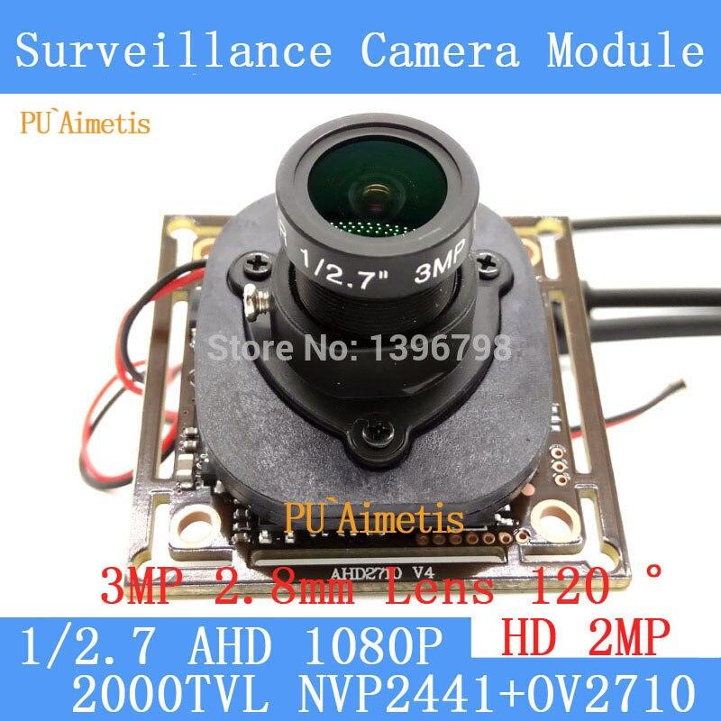 PU`Aimetis 2MP 1920*1080P AHD CCTV 1080P mini Camera Module 2000TVL 2.8mm wide-angle 120degree surveillance camera ODS/BNC Cable