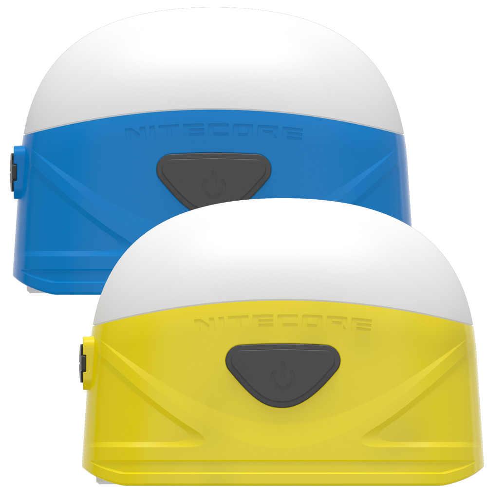 Оптовая продажа Nitecore LA30 2xAA двухтопливный заряжаемый светильник для кемпинга 8CRI + 3Red LEDs 250LM встроенный литий-ионный аккумулятор желтый синий