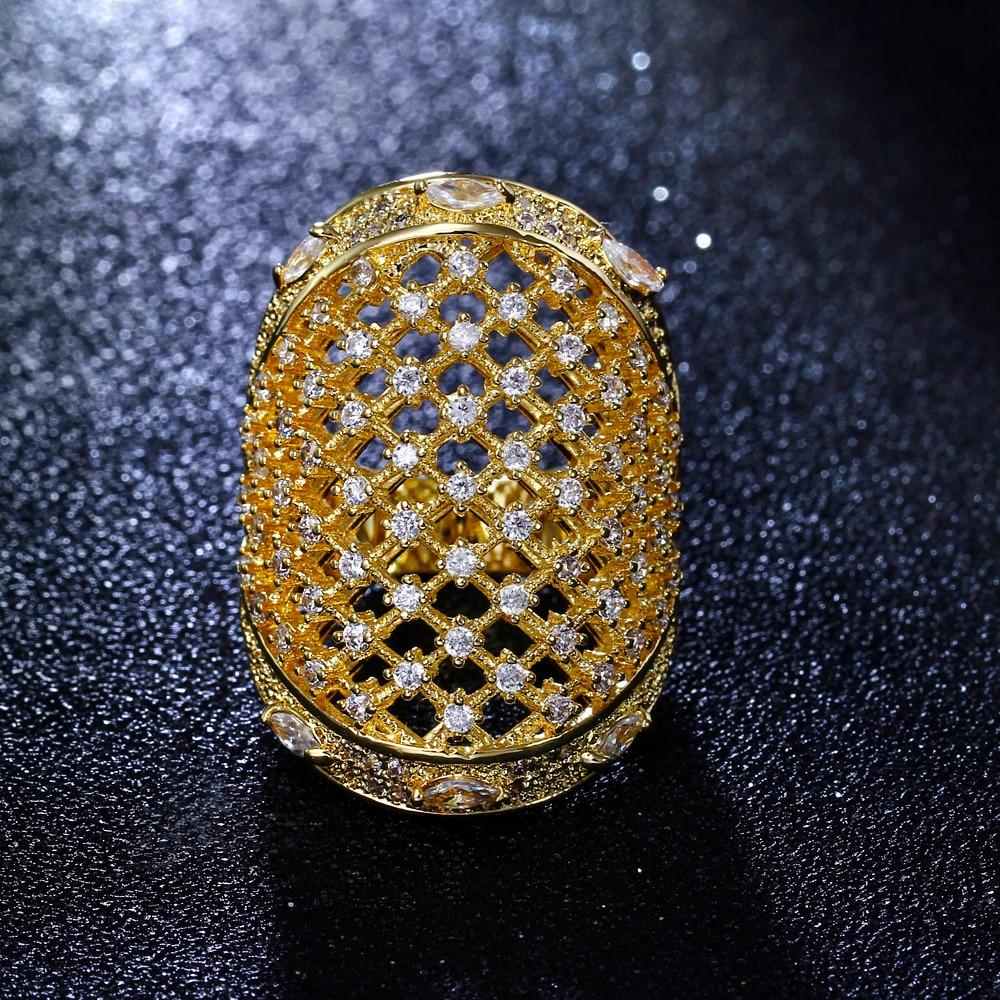 Félelmetes ékszerek! Kedves nagy gyűrű! Fehér és arany színű - Divatékszer - Fénykép 3