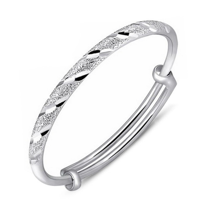 100% 925 sterling silver fashion dull polish ladies`bangles jewelry no fade cheap women female bangle wholesale drop shipping bangle