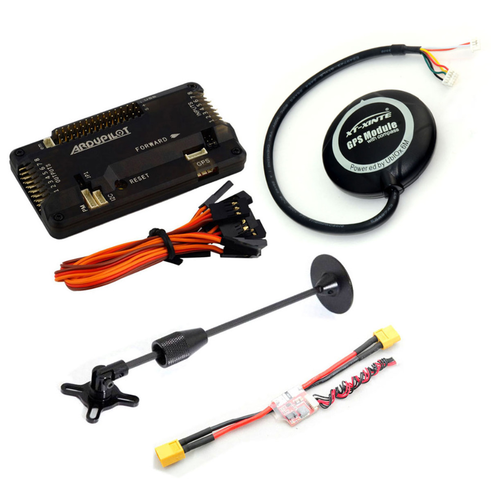 APM 2.8 Flight Controller w/ Case and Shock Absorber +UBLOX NEO-6M GPS& Mount Support + Power Module for Multicopter freeshipping ublox neo 6m gps module with eeprom for mwc aeroquad with antenna page 2