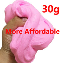 30g Big Pack Hand Gum Playdough Fluffy Slime Floam Lizun Light Clay Modeling Polymer Clay Sand Fidget Plasticine Rubber Mud Toy(China)