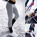 Moda Feminina Ladies Treino Aptidão Leggings de Cintura Alta Leggings Skinny