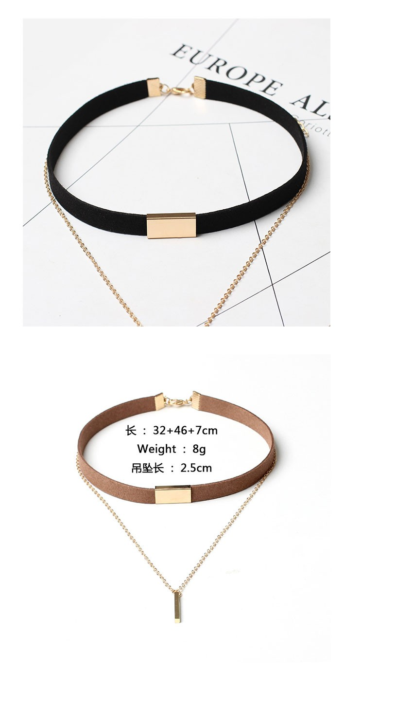 880da83fb47 New Black Velvet Choker Necklace Gold Chain Bar Chokers Chocker Necklace  For Women collares mujer collier ras du cou