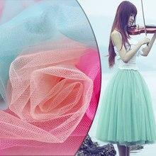 dacfdd58a0 30D Encryption Soft net fabric mesh gauze cloth 150*100cm DIY patchwork  material for Bitter fleabane skirt dress hexagonal mesh