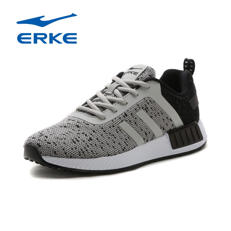 ERKE Men Running Shoes 2017 Spring Summer Sneakers Men breathable Trainers Sports Shoes Lace up Outdoor Athletic Shoes For Men trainers men 2017 brand sneakers breathable running shoes outdoor blade sole sports shoes high quality non slip sneakers
