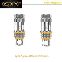 100% Original Aspire Atlantis EVO Replacement Coil 0.4 ohm & 0.5 ohm Kanthal Clapton Coils For Aspire Alalantis EVO Tank 5pcs