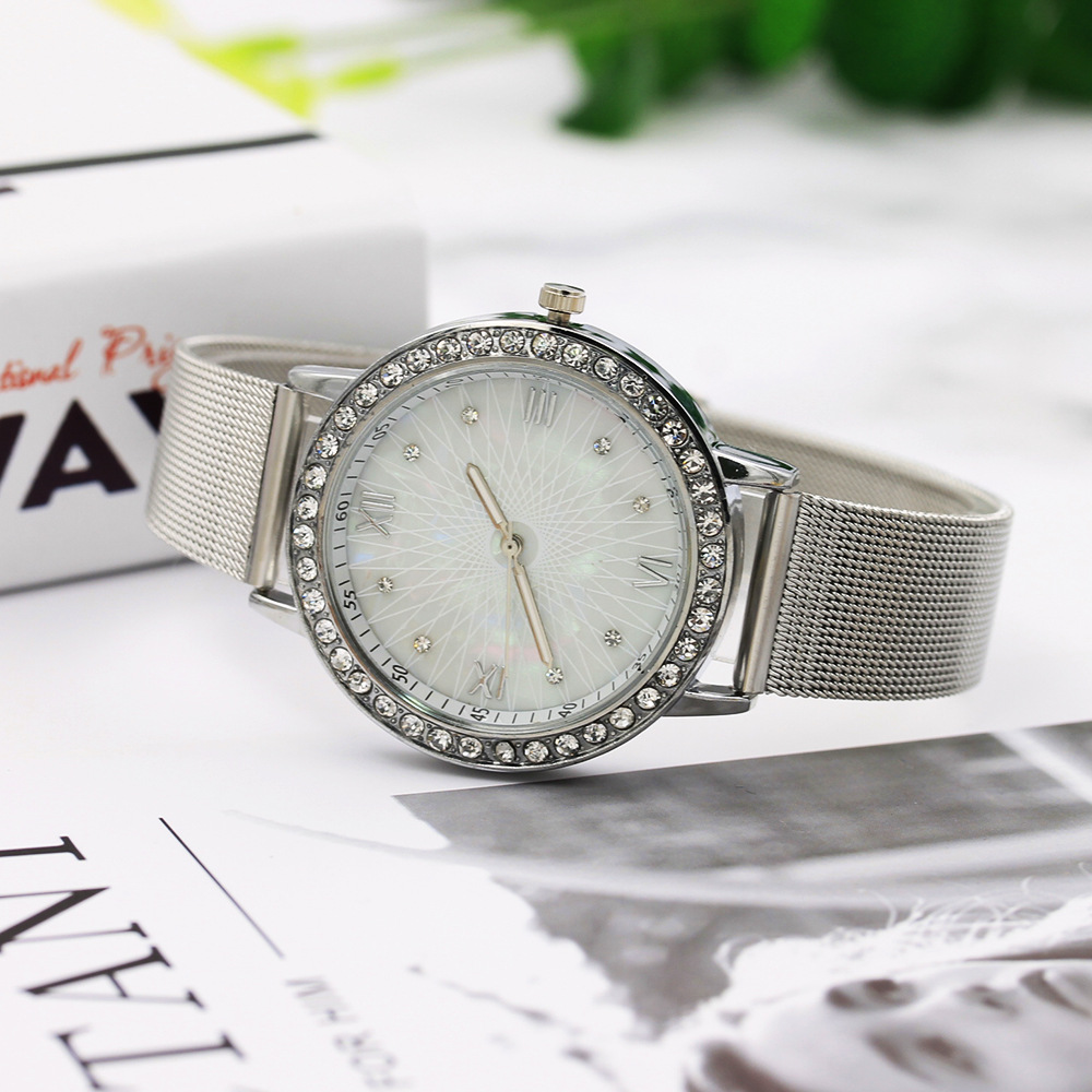 Watches For Ladies With Complicated Curves On Shell Surface And Steel Band Watches Fashion Japanese And Korean Watches