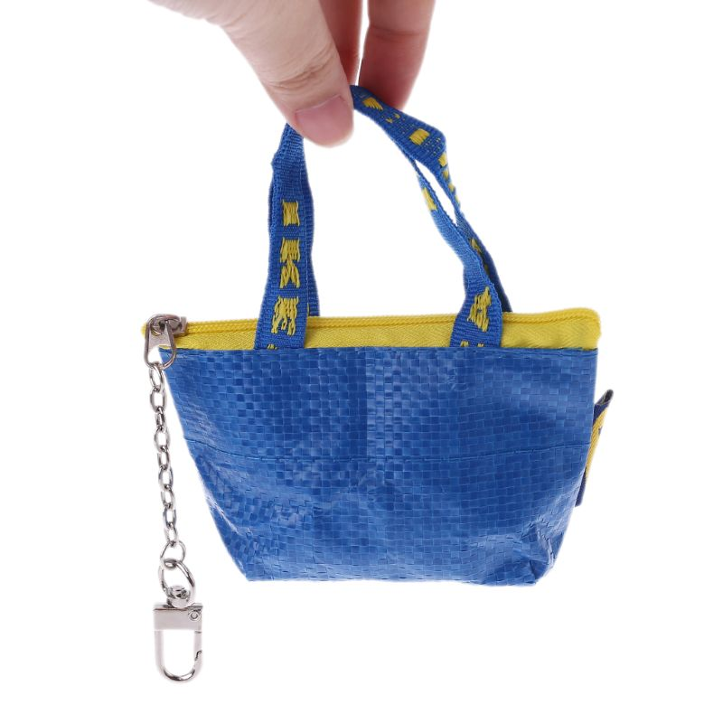 Coin Purse Money-Pouch Mini Wallet Small Women Keyring Card-Holder Fashion Blue-Color