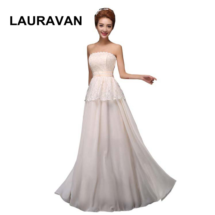 special occasion champagne color sweetheart lady   bridesmaid     dress   long formal   dresses   women new fashion 2018 free shipping