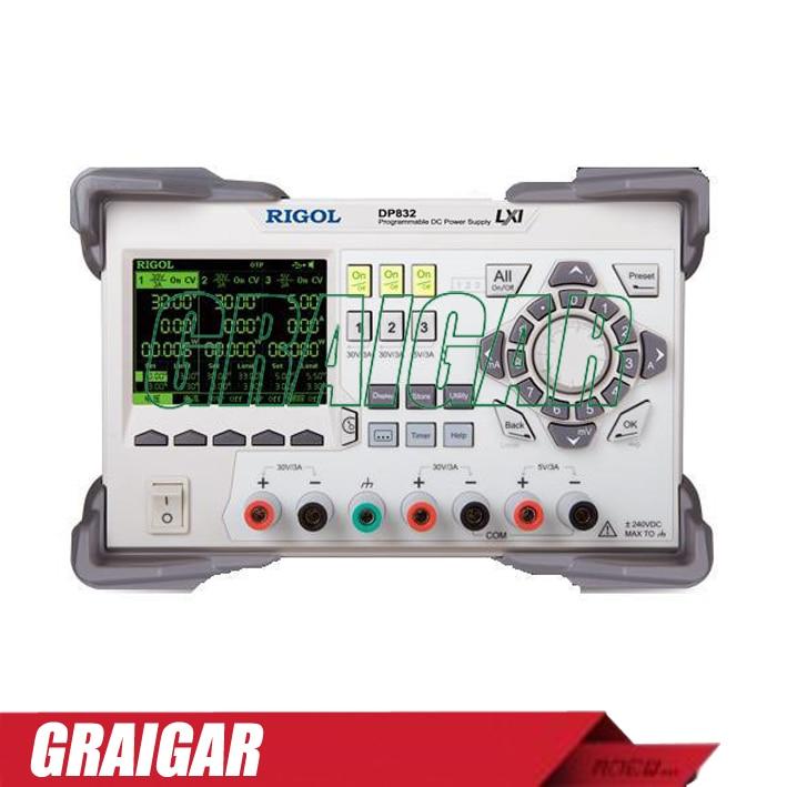Rigol DP832 Programmable Linear DC Power Supply 3 Channels 1pc rigol dp832 programmable linear dc power supply 3 channels