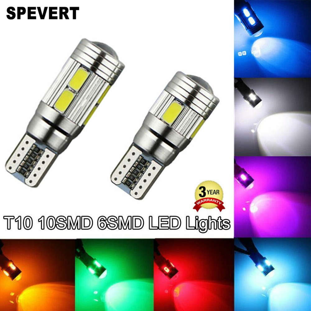 T10 6//10 SMD LED ERROR FREE CANBUS Car Side Light Bulb Xenon W5W 501 194 168