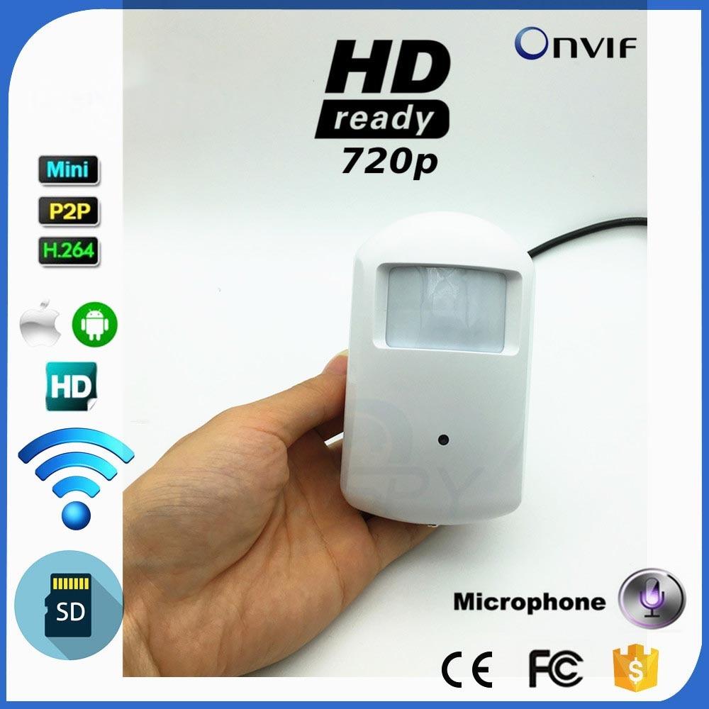 Видеонаблюдения P2P Onvif 720 P 1.0MP IP Пинхол WI-FI Камера HD ПИР Стиль детектор движения IP Камера Sd карта аудио