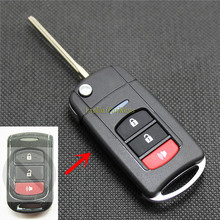 PINECONE Key Case for TOYOTA Car With Uncut Blade 3 Buttons Modified Remote Shell Cover 1 PC
