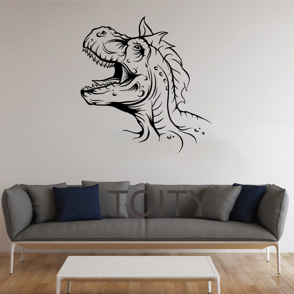 The Rexes Wall Stickers Dinosaur Vinyl Decals Nursery Decor Home Room Interior Design Art Murals for Children Kids Bedroom