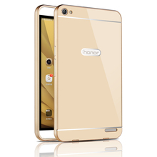 Fashion For Huawei MediaPad X2 Case Slim Acrylic Back Cover + Aluminum Metal Frame Phone Cases Fundas For Huawei Honor X2 7inch