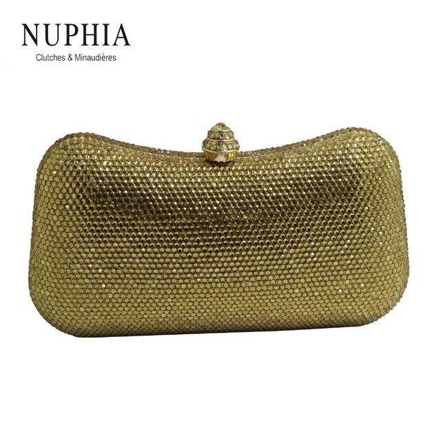 26b86c85d NUPHIA New Golden Cristal Embreagens e Sacos de Festa Bolsa de Noite  Marinha Roxo Ouro Negro